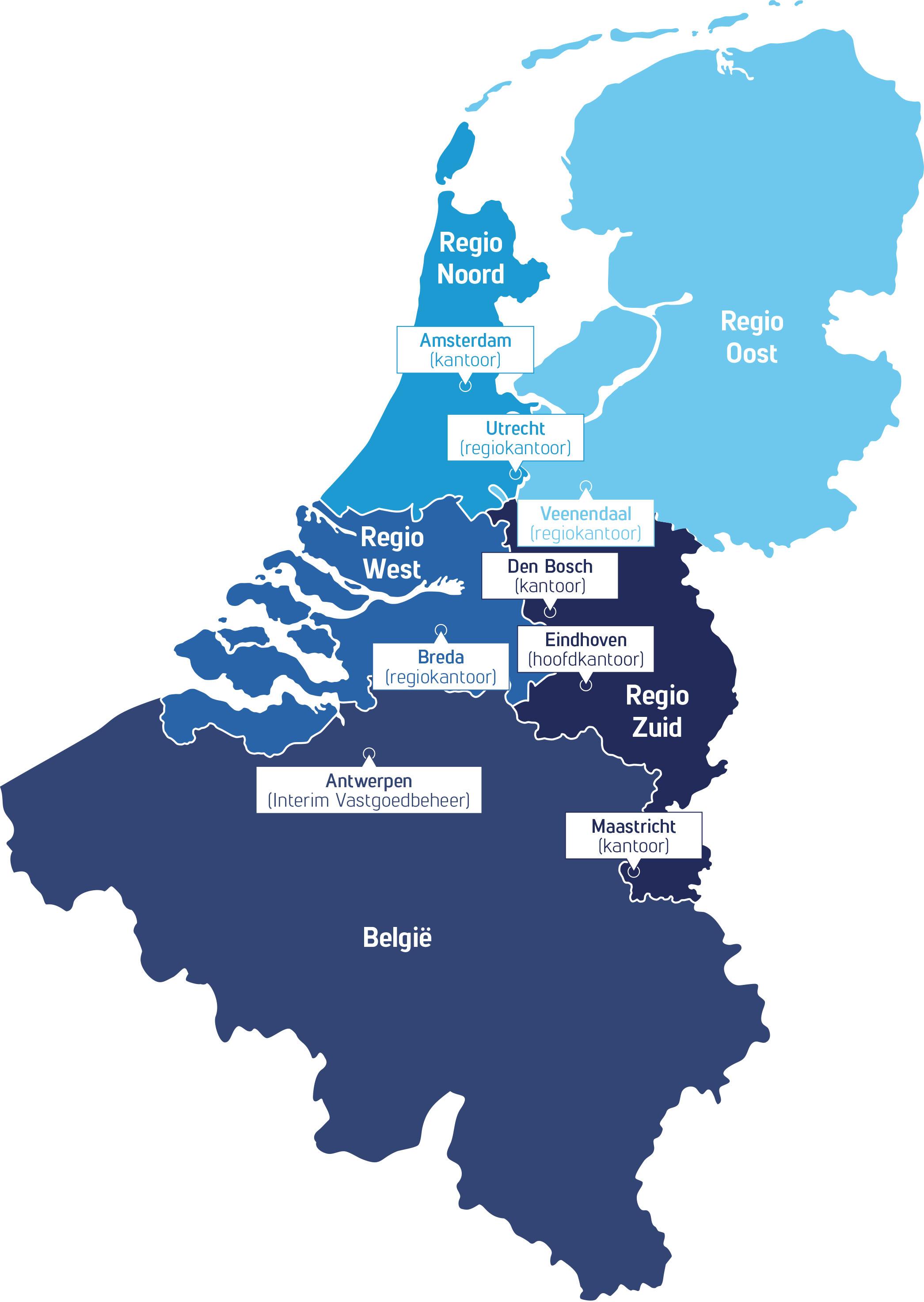 Regio indeling Gapph